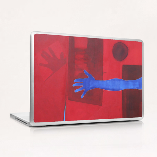 The Blue Hand Laptop & iPad Skin by Pierre-Michael Faure