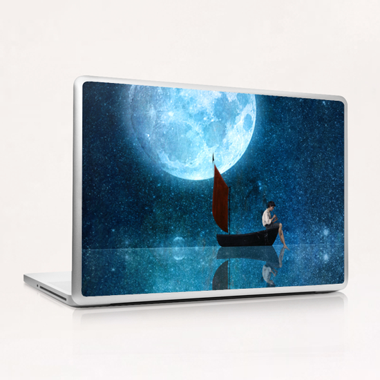 The Moon And Me Laptop & iPad Skin by DVerissimo