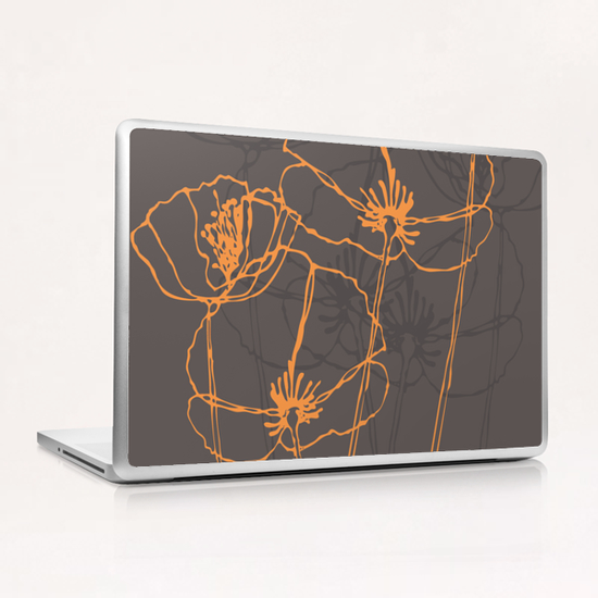 American Poppies 2 Laptop & iPad Skin by Vic Storia