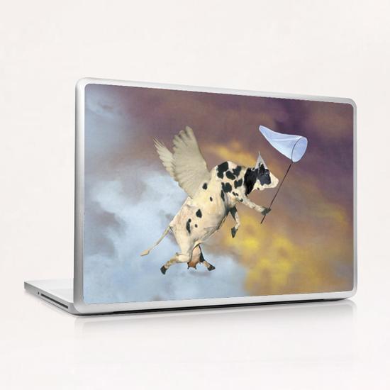 Crazy Cow Laptop & iPad Skin by tzigone