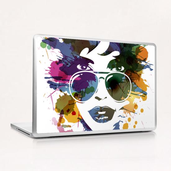 Femme à Lunettes... Laptop & iPad Skin by Vic Storia
