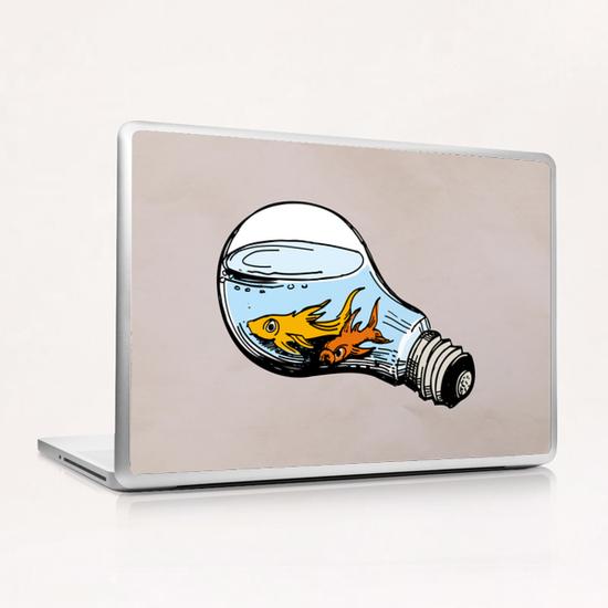 Fishes-Bulb Laptop & iPad Skin by Georgio Fabrello