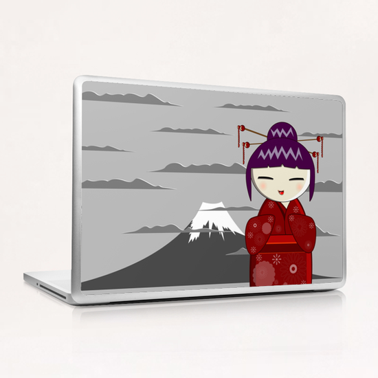 Fuji kokeshi Laptop & iPad Skin by PIEL Design