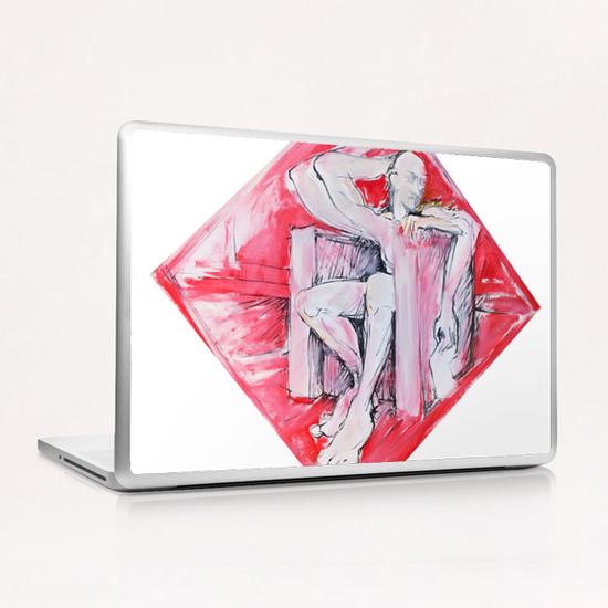Sitting man Laptop & iPad Skin by Georgio Fabrello