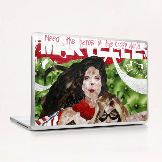 need the heros in this crazy world Laptop & iPad Skin by frayartgrafik