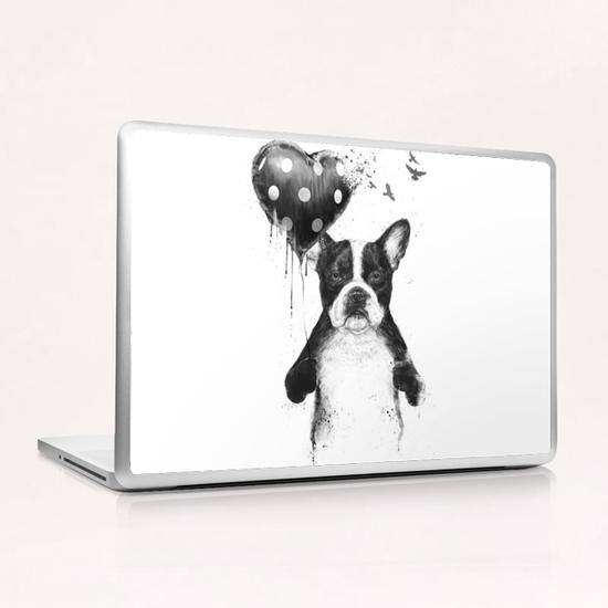 My heart goes boom Laptop & iPad Skin by Balazs Solti