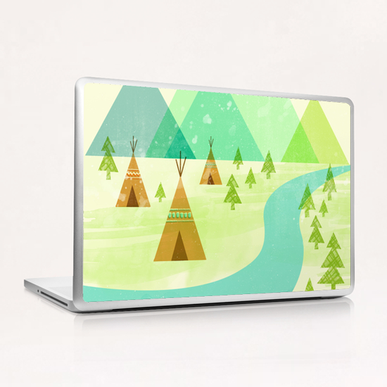 Native Lands Laptop & iPad Skin by Jenny Tiffany
