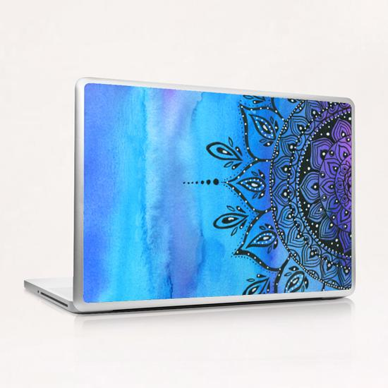 Blue Mandala Laptop & iPad Skin by Li Zamperini