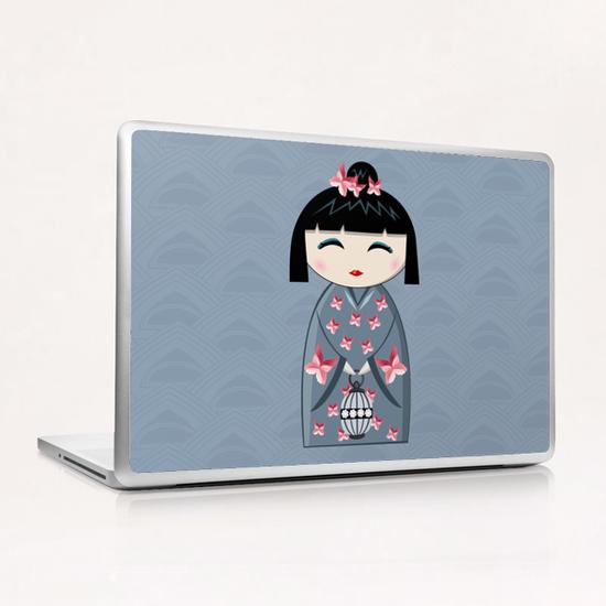 Pink butterfly Laptop & iPad Skin by PIEL Design