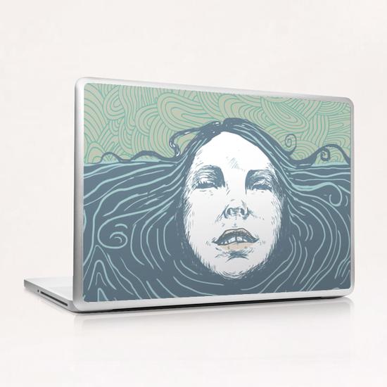 Sea-face Laptop & iPad Skin by tzigone