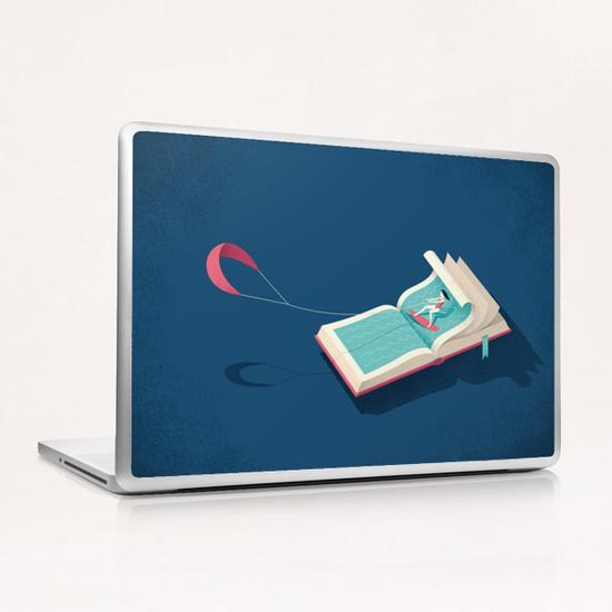 Surfing Laptop & iPad Skin by Andrea De Santis