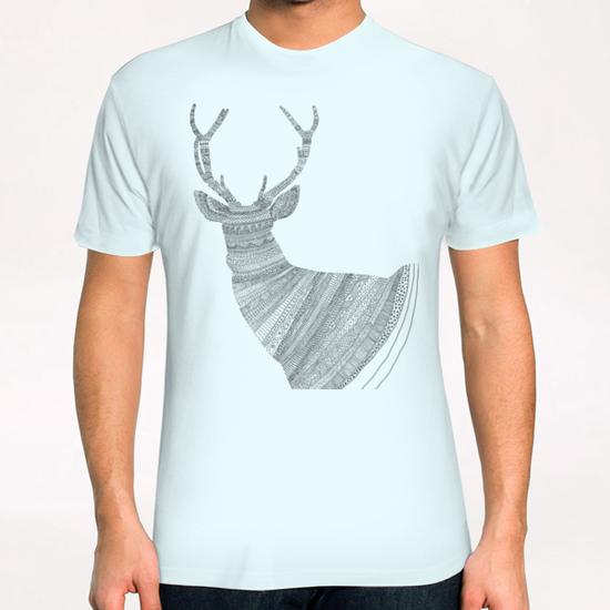 Stag (blue) T-Shirt by Florent Bodart - Speakerine