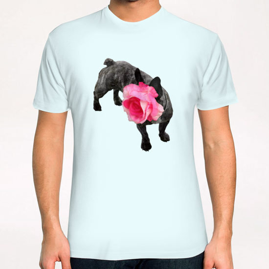 Romantic French Bulldog T-Shirt by Ivailo K