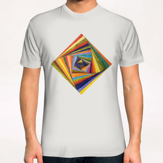 Rainbow Square T-Shirt by Vic Storia