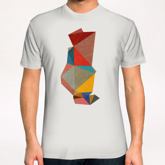 Abstract Pink T-Shirt by Vic Storia