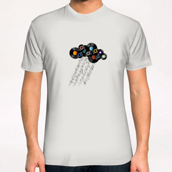 Music Cloud T-Shirt by Alex Xela