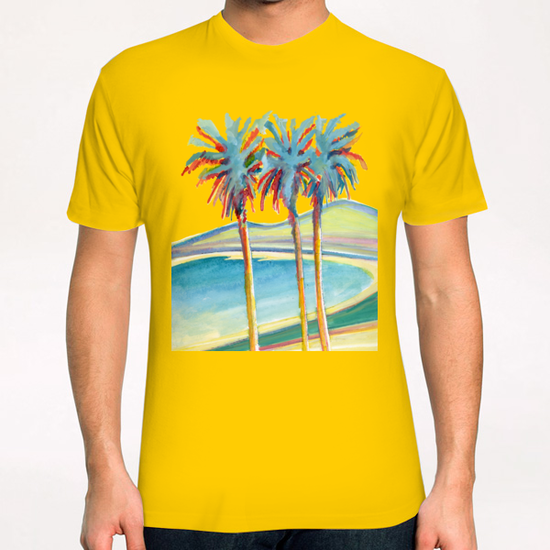 Palm Tree on the French Riviera T-Shirt by Georgio Fabrello