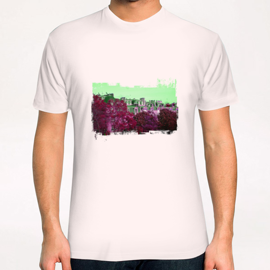 Roofs in Montmartre T-Shirt by Malixx