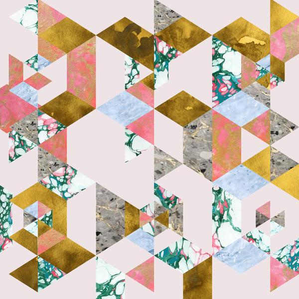Geometry in love artsider murals by uma gokhale artsider for Cache fils tv mural