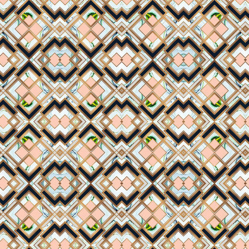 Art deco geometric pattern Mural by mmartabc