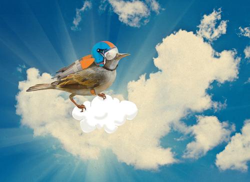 Rocket Bird Mural by tzigone