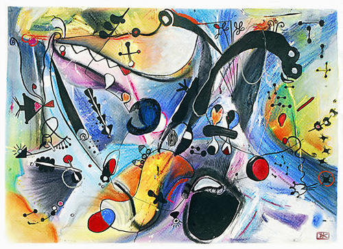 Joyeux paysage Mural by Denis Chobelet
