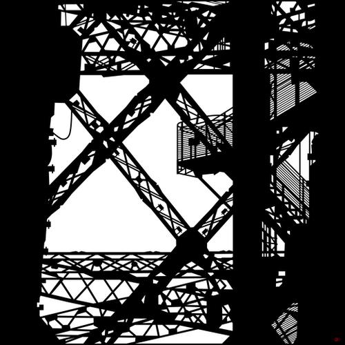 Eiffel tower #4 Mural by Denis Chobelet