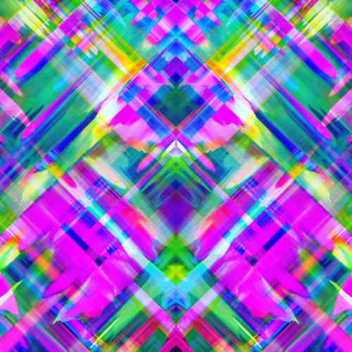 Colorful digital art splashing G469 Mural by MedusArt