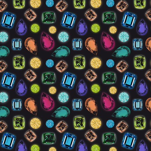 Gemstones Mural by vannina