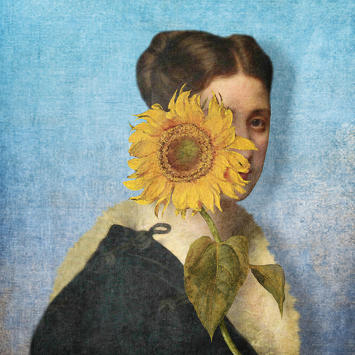 Girl with Sunflower 2 Mural by DVerissimo