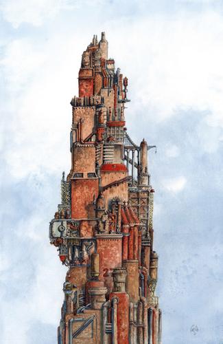Industrial Revolution Mural by Davide Magliacano