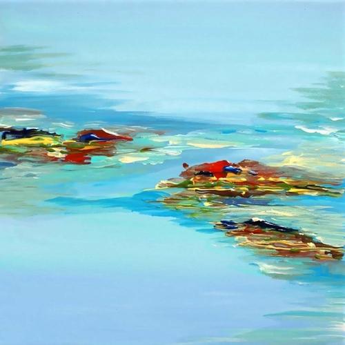 Coastal Scene Mural by Irena Orlov