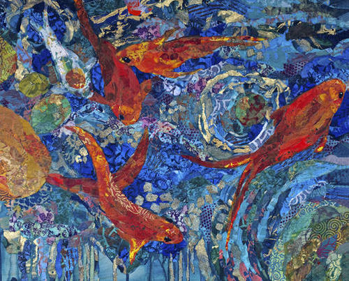 Koi Pond Mural by Elizabeth St. Hilaire