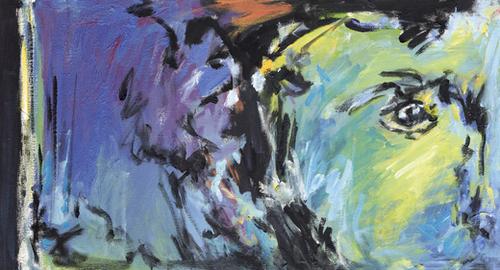 Lion Diptych - Left Mural by Georgio Fabrello