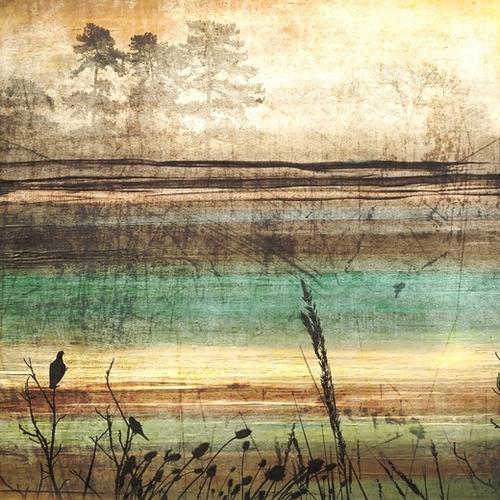 Golden Forest I Mural by Irena Orlov