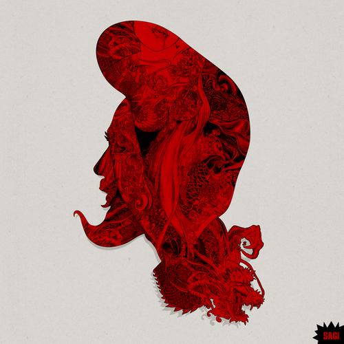 RED DRAGON Mural by sagi.art