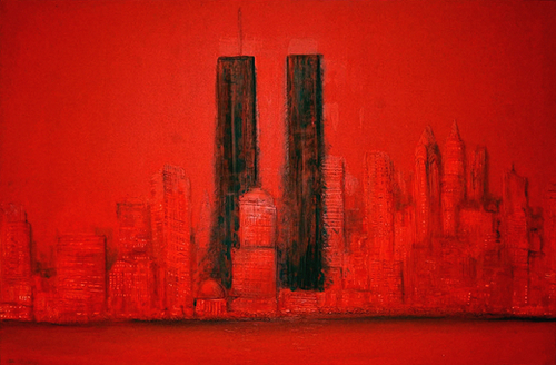 Twin Towers Mural by di-tommaso