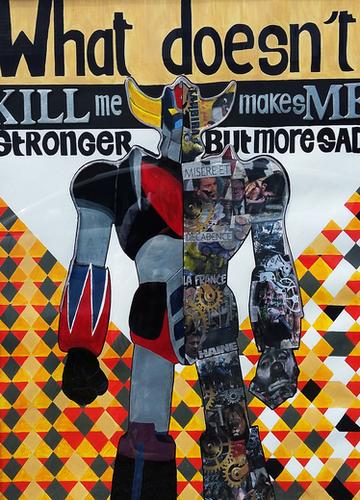 What doesn't kill me... Mural by frayartgrafik