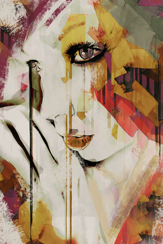 Abstract Portrait - Pages Mural by Galen Valle