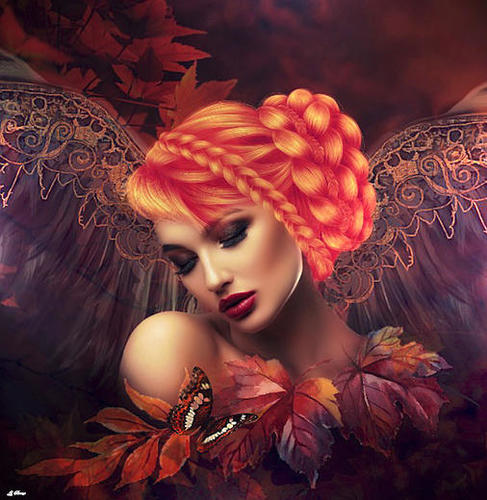 AUTUMN ANGEL Mural by G. Berry
