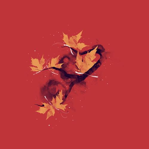 Autumn Butterflies Mural by Tobias Fonseca