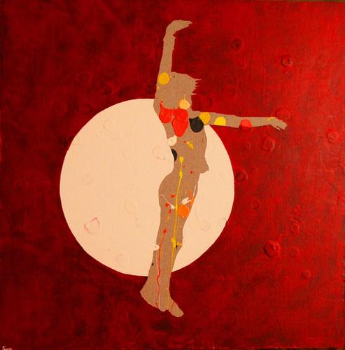 Dancing In The Moon Mural by Pierre-Michael Faure