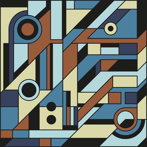 De Stijl Abstract Geometric Artwork 3 Mural by Divotomezove