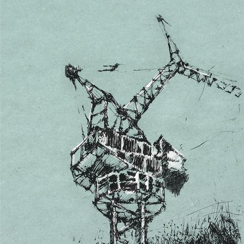 Crane Mural by Georgio Fabrello