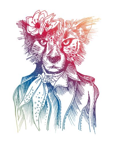 Cute Cheetah Mural by Georgio Fabrello
