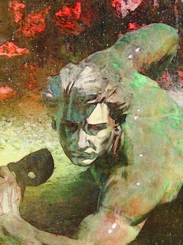 l'homme au masque Mural by Malixx