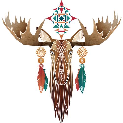 moose Mural by Manoou