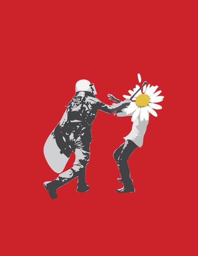 Flower Riot Mural by tzigone