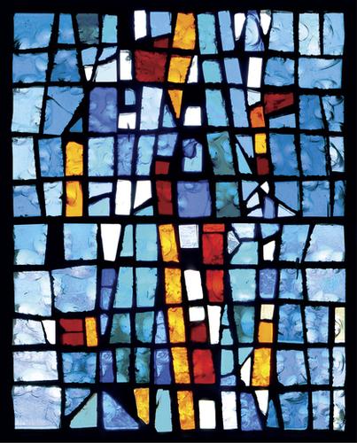 Vitrail Bleu Mural by Georgio Fabrello