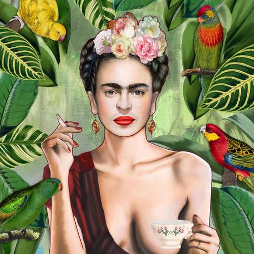 Frida con amigos Mural by Nettsch